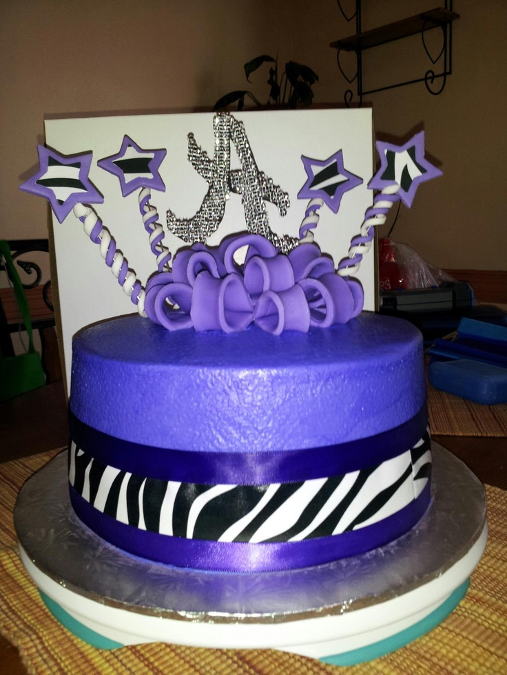 Birthday cake with buttercream. The zebra stripes are the ...
