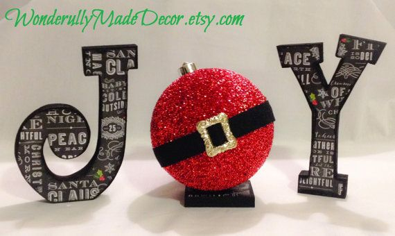 Christmas Decor . JOY Letters . Joy Sign  by WonderfullyMadeDecor