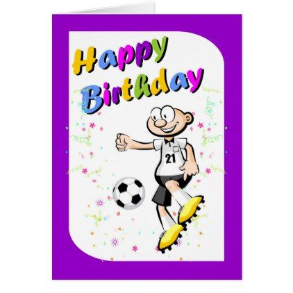 Happy birthday for the bravest soccer player card - birthday cards invitations party diy personalize customize celebration