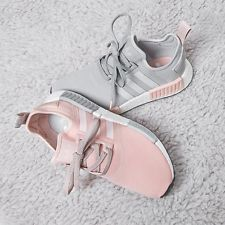 Adidas NMD R1 Grey Vapour Pink Light Onix Womens BY3058 Sz 8 Boost Iniki
