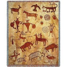 Rock Art of the Ancients Tapestry Throw