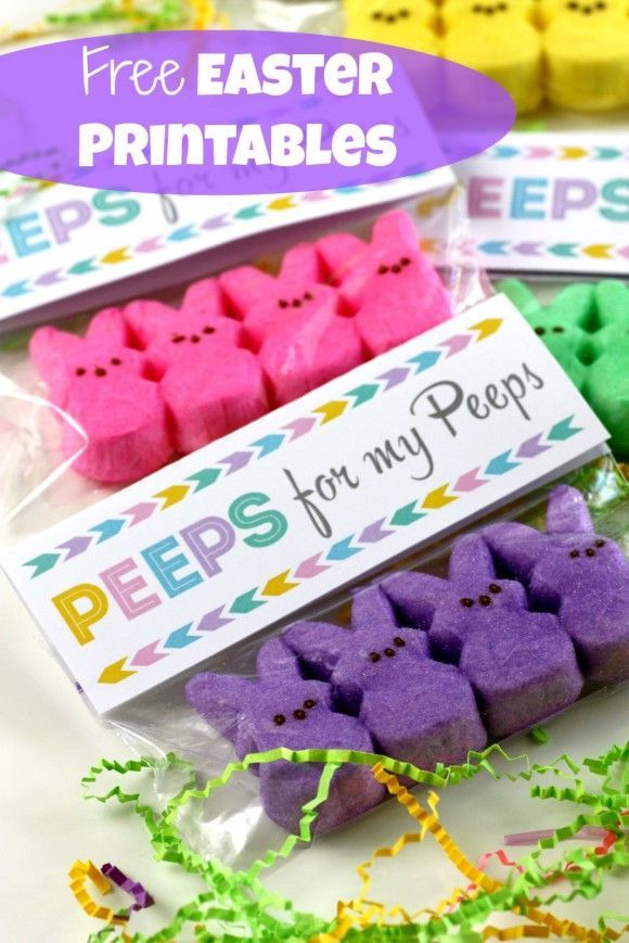 "Free ""Peeps for my peeps"" Easter printables 
