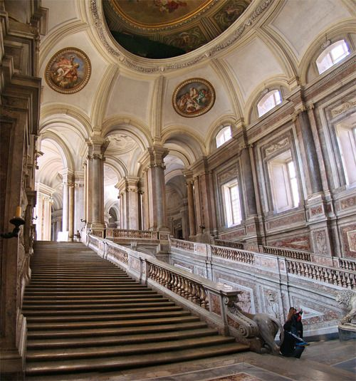 Grand staircase the palace of caserta naples architecture design pinterest naples the - Interior designer caserta ...