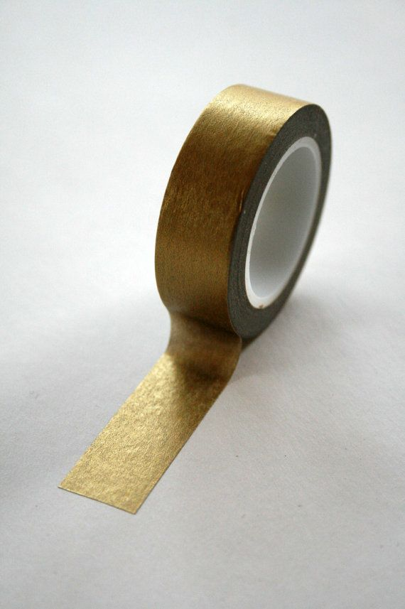 Metallic Solid Gold Washi Tape, 10.5 yards. $3.95, via In the Clear on Etsy.
