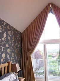 Italian strung curtains for eaves window