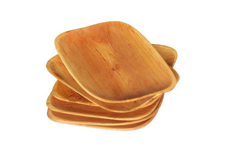 Wooden cherry trays / Tace drewniane z czeresni romby kpl szesc