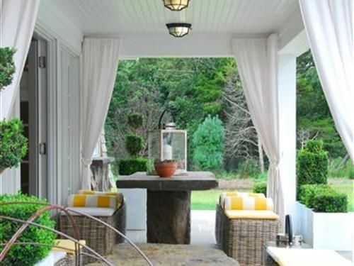 Patio Cover With Outdoor Curtains