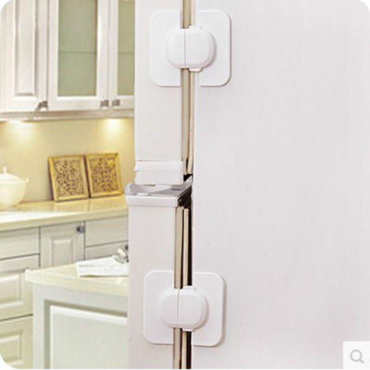 5PCS Multi-function Baby safety refrigerator lock Children's home Anti pinch hand Safety lock Refrigerator door lock buckle