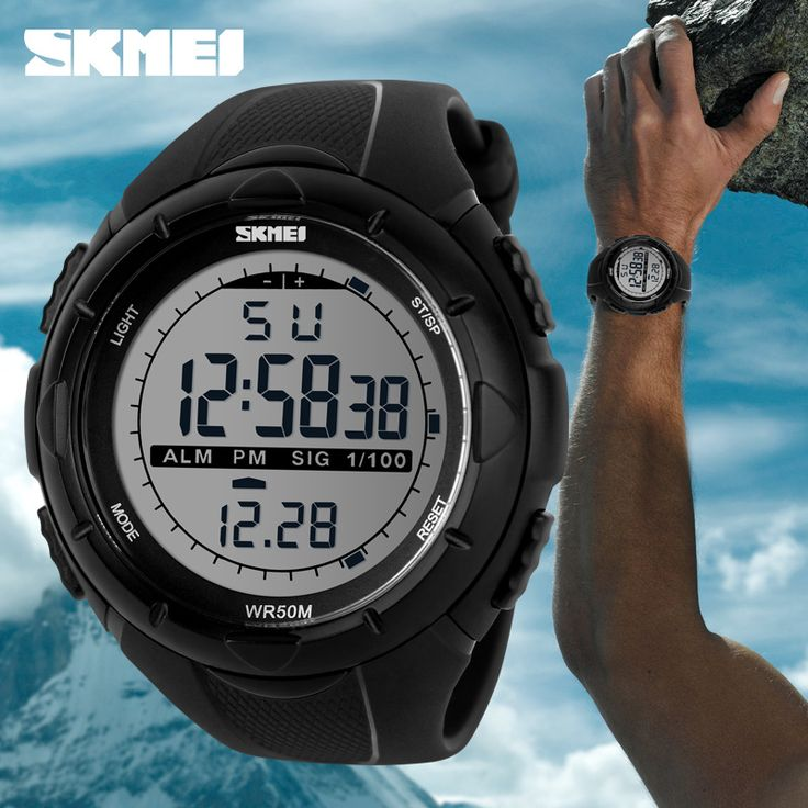 SKMEI Men Digital LED Sports Watches swim fashion casual Military Wristwatches rubber strap relogio masculino Luxury Brand 2016 WOW  #shop #beauty #Woman's fashion #Products #Watch