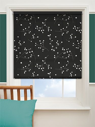 Pod Black Roller Blind from Blinds 2go