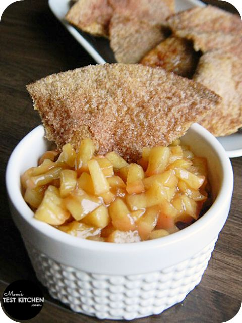 Apple Pie Dip with cinnamon chips from www.momstestkitchen.com