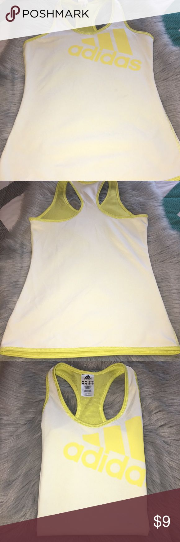 ⭐️Adidas Tank Top Workout Shirt⭐️ Gently worn with no holes nor tears adidas workout tank top. Adidas Tops Tank Tops