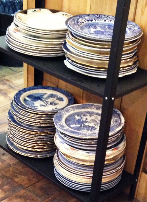 Cocomaya, in London - everything is served on mismatched, vintage plates - via Such Pretty Things