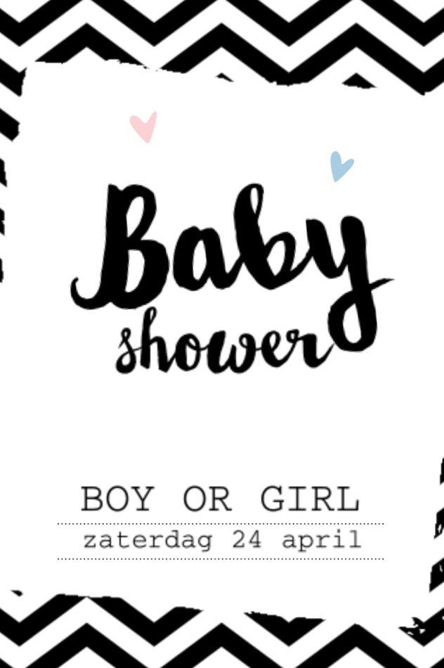 lovz.nl   babyshower uitnodigingskaart   chevron   zelf maken