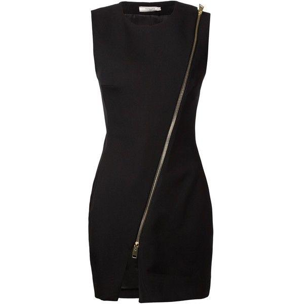 Bouchra Jarrar Front Zip Dress ($1,784) ❤ liked on Polyvore featuring dresses, kirna zabete, lbd, fitted dresses, zip dress, kohl dresses, crew neck dress and black zipper dress