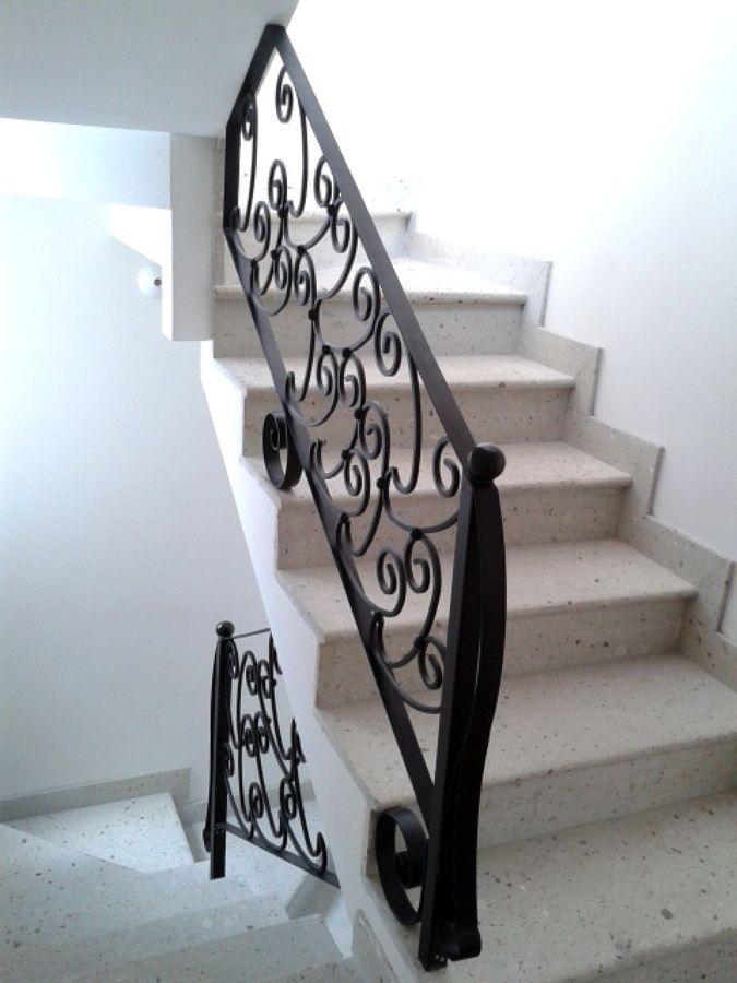 Escalera herrer a barandas para escalera pinterest - Barandales para escaleras ...