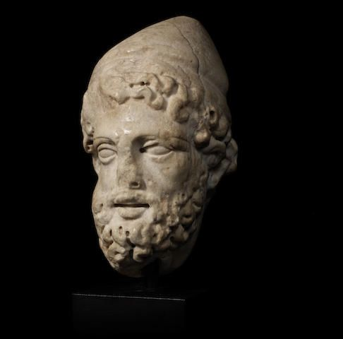 A Roman marble head of Odysseus