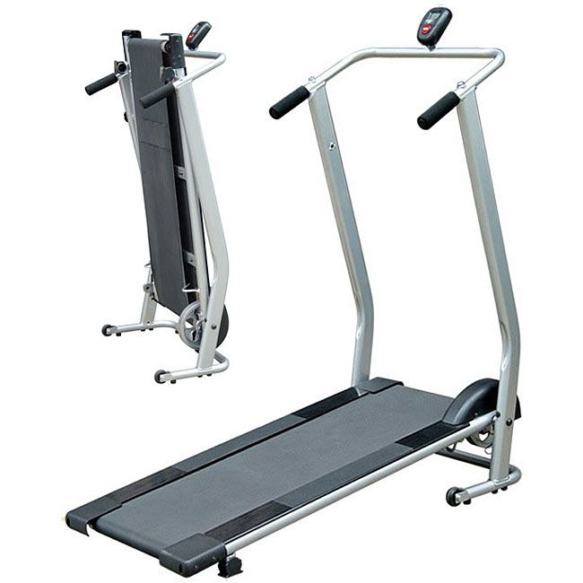 <li>Keep in shape from the comfort of your home with a foldable manual treadmill<li>Home gym machine is perfect for improving your fitness and sports performance<li>Treadmill features a computer display and convenient fold-up design