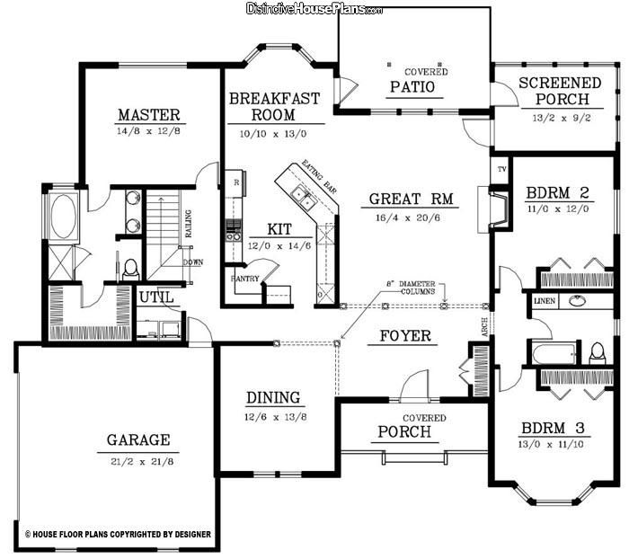 2200 square foot single story house plans