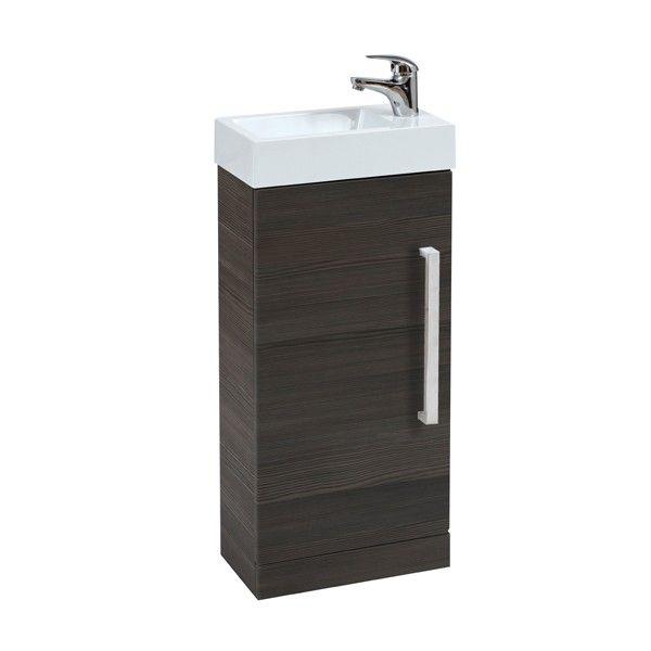 Frontline Avola Grey Floor Standing Cloakroom Vanity Unit - Cloakroom - Vanity Units - Bathroom Furniture