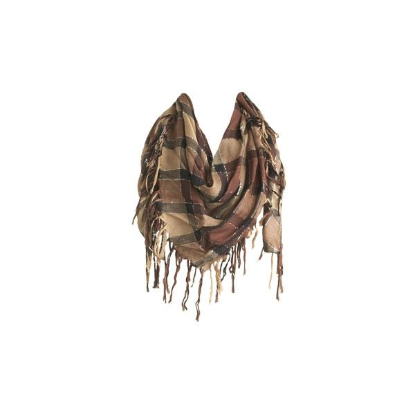 Metallic Plaid Scarf - Teen Clothing by Wet Seal ($13) ❤ liked on Polyvore