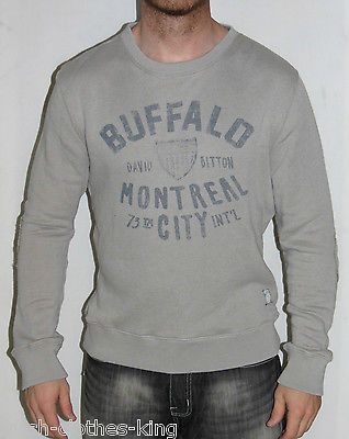 BUFFALO By DAVID BITTON Sweater New Mens $89 Austin Gray Pull Over Size Large