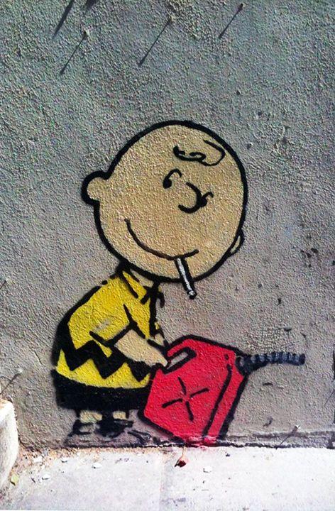 Detalhes sobre Charlie Brown por Banksy, Los Angeles Graffiti Art   – streetart