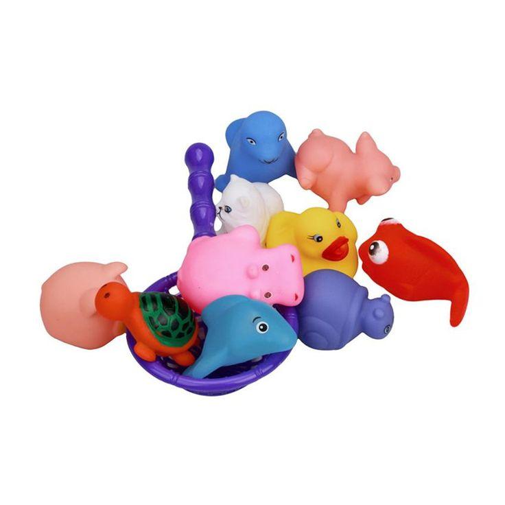 Chamsgend Una Dozzina 10 pz Gomma Animali Con Il Suono Baby Shower Favori di Partito Giocattolo Levert Dropship N1224