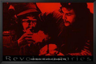 Che Guavara & Fidel Castro poster 24x36 print in solid wooden frame...$55.00  http://rastacart.com/rasta-posters/ #posters #cheguevara #revolution #novelty #fidelcastro #cuba