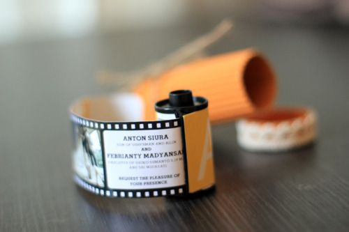 unusual wedding invitation with roll of film Uniquely Wedding Invitations with Roll of Film