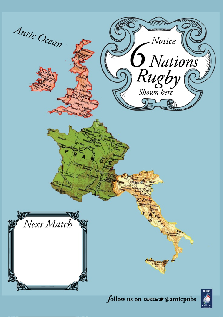 a poster i made for 6 nations rugby for www.antic-ltd.com