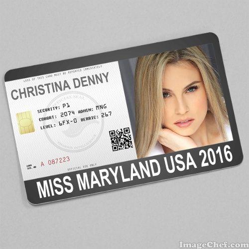 Christina Denny Miss Maryland USA 2016 card
