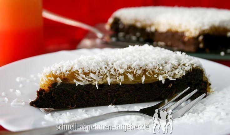 Schokoladen-Mango-Tarte mit Kokosflocken