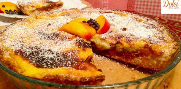 Crostata Senza Burro con Crema cotta e Pesche, il dolce goloso e irrestistibile di Dolci Senza Burro