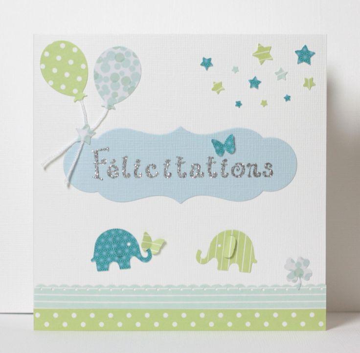 Carte de félicitations pour une naissance : Cartes par latelierdesconfettis