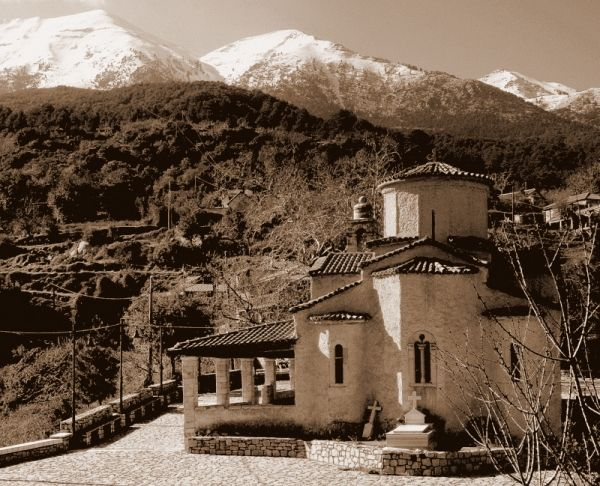 Winter in Mount Taygetos, southern Peloponnese