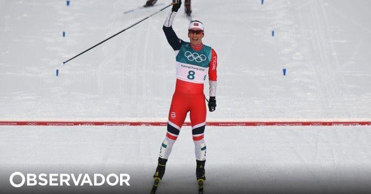 Sueca Charlotte Kalla ganhou o primeiro ouro dos Jogos Olímpicos de Inverno nos 15km skiathlon mas é de outra escandinava que se fala: Marit Björgen (37 anos) passa a ser a atleta com mais medalhas. http://observador.pt/2018/02/10/marit-bjorgen-a-dama-de-ferro-da-neve-foi-mae-fez-historia-no-mundial-e-agora-ganhou-o-olimpo/