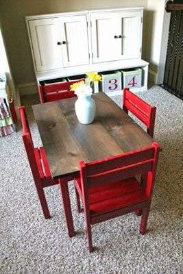Decorating a Kid's Playroom, great way to redo maddie's and chairs for JJ when she outgrows them