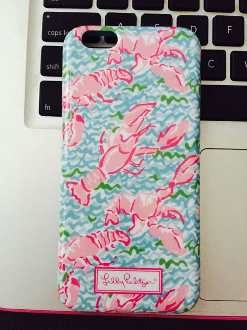 Lilly Pultizer IPhone case in blue lobster roll