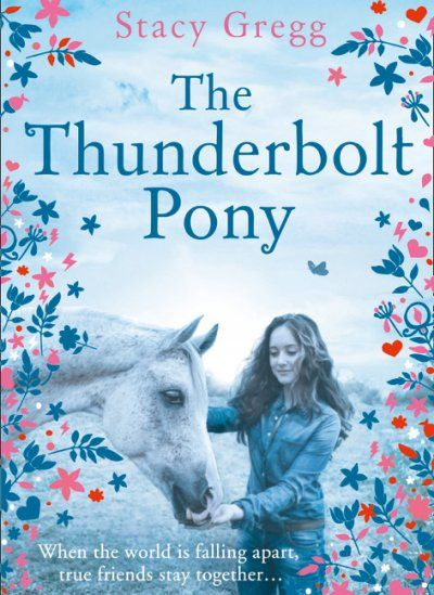 The Thunderbolt Pony / Stacy Gregg. When a devastating earthquake hits Evie's hometown of Parnassus on NZ's South Island, she and the rest of the town are forced to evacuate. But when she realises that she will be forced to leave her beloved pony, Gus, her dog, Jock, and her cat Moxy behind, she is determined to find another way. Before the rescue helicopter returns, Evie flees with Gus, Jock and Moxy in a race against time.