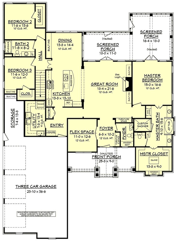 Craftsman House Plan with Rustic Exterior and Bonus Above the Garage - 51746HZ | Architectural Designs - House Plans