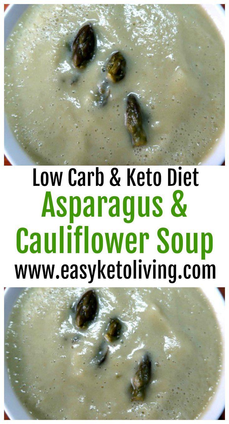 Low Carb Asparagus and Cauliflower Soup