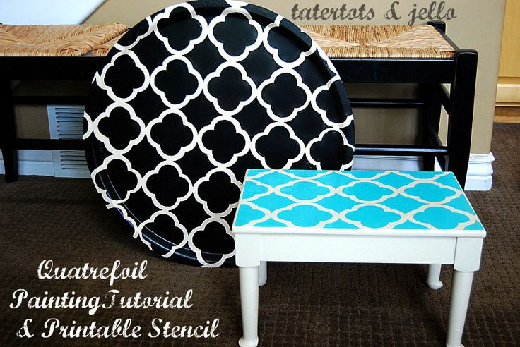 quatrefoil stencil and painting tutorial Tatortots and JelloQuatrefoil Painting, Ideas, Furniture Makeovers, Diy Crafts, Printables Stencils, Stencils Pattern, Painting Projects, Diy Projects, Free Printables
