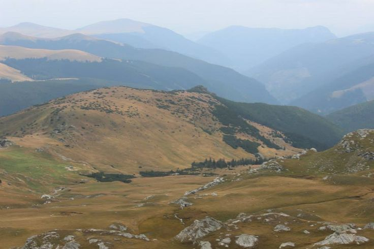 View from Transalpina in the Parâng Mountains group, in the Southern Carpathians of Romania.