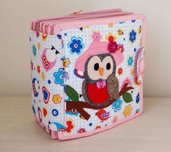 Owl Quiet Book Busy Book Activity Book Educational Sensory