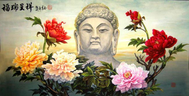Ferrer bohaté pivonka a Phoenix veľa šťastia Vybrané Buddha ... šablóna na stiahnutie (Image ID: 13654101) _ interiér s obrázkom _ Počítam net www.ooopic.com