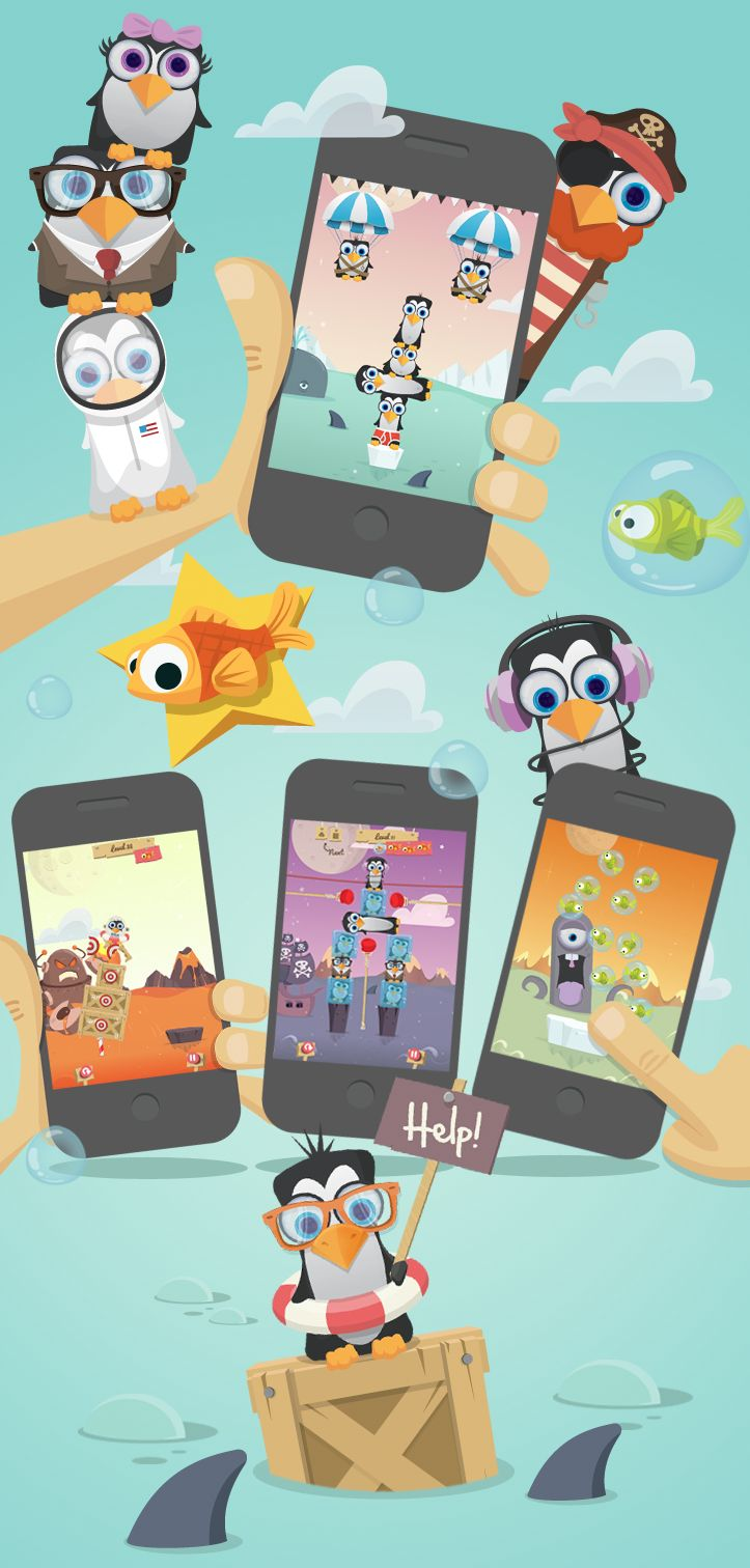 Penguin Pile-Up iOS and Google play