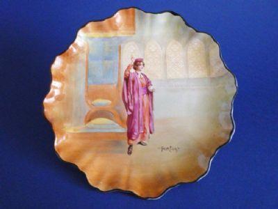 Royal Doulton Shakespearean Series 'Portia' China Plate E7267 c1912