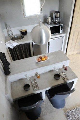 cocina pequeña cemento alisado – Casa Web