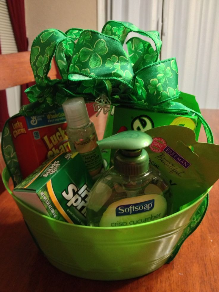 91 best secret sister reveal party images on pinterest secret patricks day little gifts green gift basket idea negle Gallery